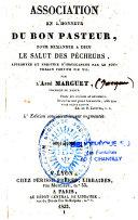 Association en l'honneur du Bon Pasteur pour demander à Dieu le salut des pécheurs...