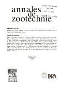 Annales de zootechnie