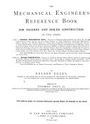 The Mechanical Engineer's Reference Book for Machine and Boiler Construction