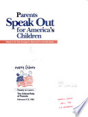 Parents Speak Out for America s Children Book PDF