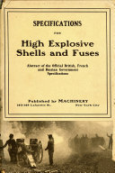 Specifications for High Explosive Shells