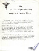 The US Army-Baylor University Program in Physical Therapy