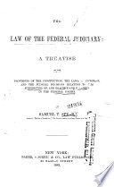 The Law Of The Federal Judiciary