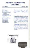 Virginia Counselors Journal