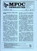 MFOC Newsletter