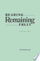 Bearing Remaining Fruit