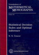 Statistical Decision Rules and Optimal Inference