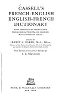 Cassell s French English  English French dictionary