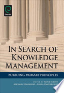 In Search of Knowledge Management