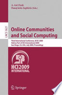 Online Communities And Social Computing Book PDF
