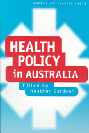 Cover of Health Policy in Australia
