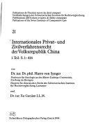 Internationales Privat- und Zivilverfahrensrecht der Volksrepublik China
