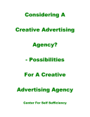 Considering a Creative Advertising Agency
