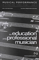 Pdf The Education of the Professional Musician