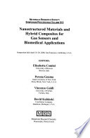 Nanostructured Materials and Hybrid Composites for Gas Sensors and Biomedical Applications