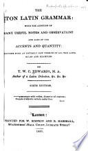The Eton Latin Grammar Book