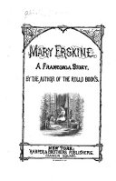 The Franconia Stories Mary Erskine