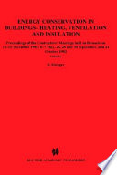 Energy Conservation In Buildings Heating Ventilation And Insulation Book PDF