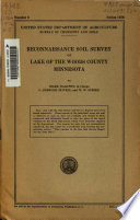 Reconnaissance Soil Survey of Lake of the Woods County  Minnesota