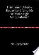 Hartlauer Urteil – Bedarfsprüfung für selbständige Ambulatorien