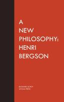 Pdf A New Philosophy: Henri Bergson Telecharger