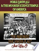 Noble Drew Ali The Moorish Science Temple Of America The Movement That Started It All Book