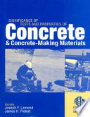 Significance Of Tests And Properties Of Concrete And Concrete Making Materials