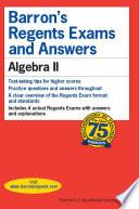 Barron's Regents Exams and Answers: Algebra II