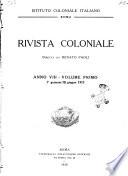 Rivista coloniale organo dell'Istituto coloniale italiano