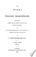 The Works Of William Shakespeare Measure For Measure The Comedy Of Errors Much Ado About Nothing Love S Labour S Lost A Midsummer Night S Dream The Merchant Of Venice