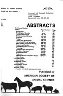 Abstracts   American Society of Animal Science Book