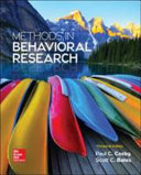 Methods in Behavioral Research Book PDF