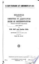 Hearings, Reports and Prints of the House Committee on Agriculture