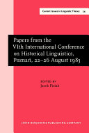 Papers from the 6th International Conference on Historical Linguistics