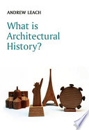 What is Architectural History  Book PDF
