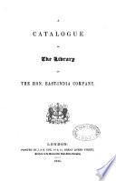 A Catalogue of the Library of the Hon. East-India Company