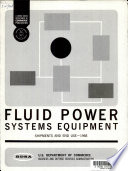 Fluid Power Systems Equipment; Shipments and End Use, 1968