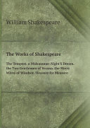 The Works of Shakespeare: The Tempest. a Midsummer-Night'S Dream. the Two Gentlemen of Verona. the Merry Wives of Windsor. Measure for Measure [Pdf/ePub] eBook