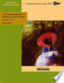 Love Letters Between A Nobleman And His Sister Volume 1 Of 2 Easyread Super Large 20pt Edition
