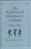 Pdf Repertory of Shakespeare's Co. (c) Telecharger