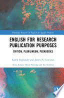 English for Research Publication Purposes Book