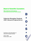 Program Review Report Of The Board Of Scientific Counselors Endocrine Disrupting Chemicals Edc Research Program Book PDF