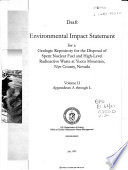 Draft Environmental Impact Statement for a Geologic Repository for the Disposal of Spent Nuclear Fuel and High-level Radioactive Waste at Yucca Mountain, Nye County, Nevada: Inventory and characteristics of spent nuclear fuel, high-level radioactive waste and other materials