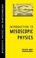 Introduction to Mesoscopic Physics Pdf/ePub eBook