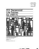 U S Decennial Life Tables For 1989 91 No 28