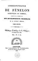 Correspondance de Fénelon, archevêque de Cambrai