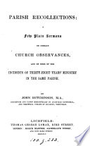 Parish recollections  sermons