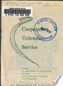 The Cooperative Extension Service Of The U S Department Of Agriculture And The State Land Grant Colleges And Universities