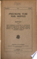 Pneumatic Tube Mail Service