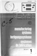 Proceedings of the CIRP Seminars on Manufacturing Systems fertigungssysteme syst  mes de Fabrication